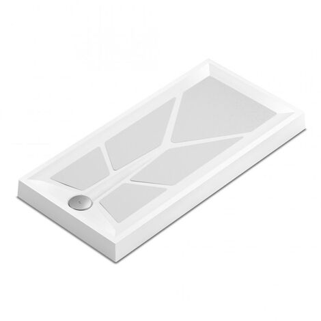 AKW Sulby 2 Square Shower Tray with Gravity Waste 800mm x 800mm