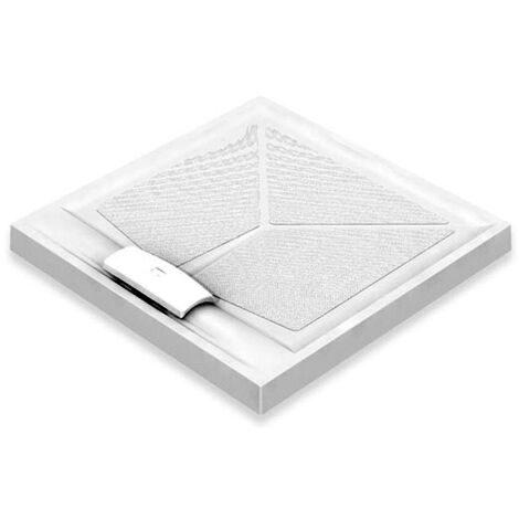 AKW Sulby Square Shower Tray with Gravity Waste 820mm x 820mm