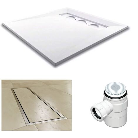 AKW TriForm Rectangle Wet Room Former Drain and Waste - 1200mm x 900mm