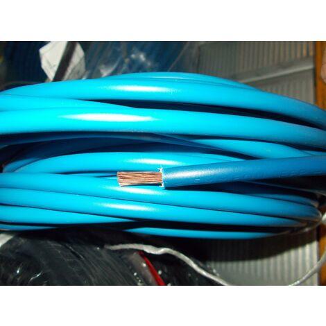 Filo elettrico 6 mm blu sfuso 10 metri n07v-k6 cavo cordina antifiamma impianti