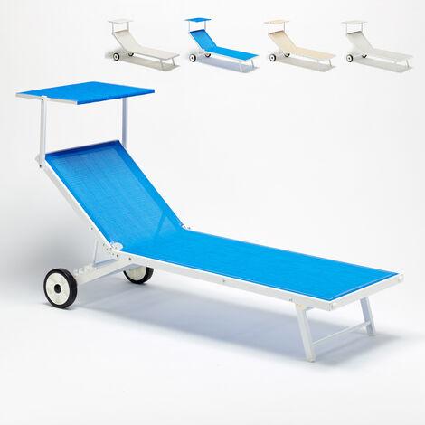 ALABAMA Beach & Patio Sun Lounger With Built-in Wheels