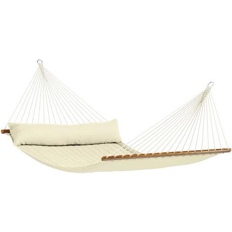 Alabama Vanilla - Hamac à barres kingsize rembourré - Blanc / écru