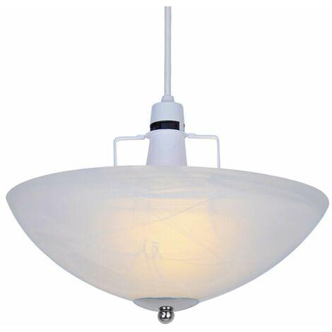 "main image of ""Alabaster Glass Uplighter Ceiling Light Shade + Chrome Gimble"""