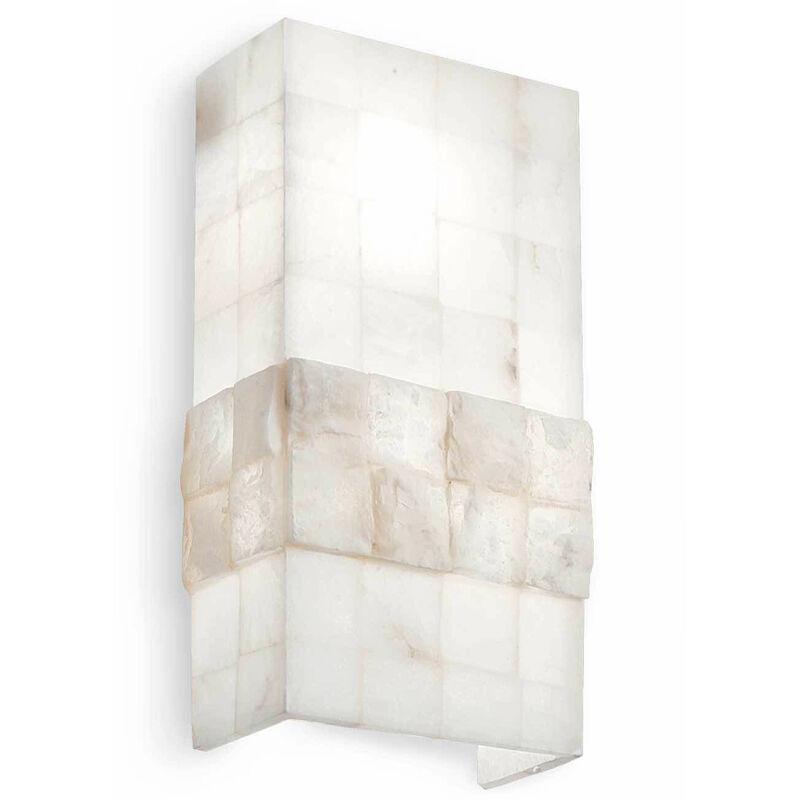 01-ideal Lux - Alabastre STONES Wandleuchte 2 Glühbirnen