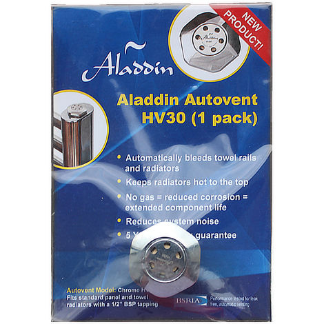Aladdin Autovents Fully Automatic Radiator De-Aeration Valve (Non Replaceable Cartridge)
