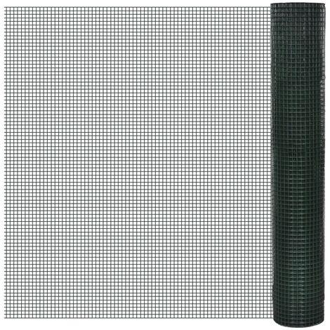 Alambrada galvanizada con revestimiento de PVC verde 10x1 m
