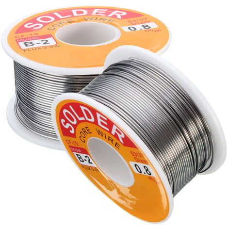 Alambre de soldadura con núcleo de colofonia de plomo, bobina de alambre de soldador para soldador (0,8 mm)