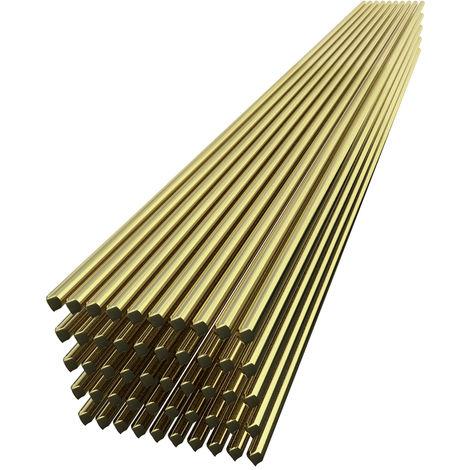 Alambre de soldadura de laton, 1.6 mm * 250 mm, 50 piezas