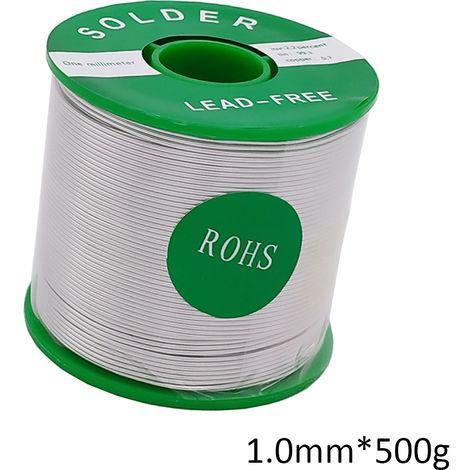 Alambre de soldadura Sn99.3 Cu0.7, la base de la resina, para la soldadura electrica, 1.0mm * 500g