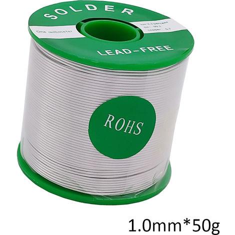 Alambre de soldadura Sn99.3 Cu0.7, la base de la resina, para la soldadura electrica, 1.0mm * 50g