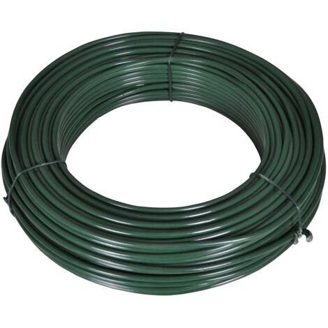 Alambre para vallas 80 m 2,1/3,1 mm acero verde