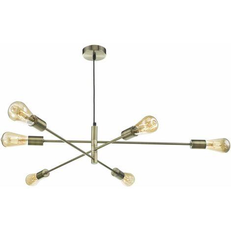Alana pendant light antique brass 6 lights