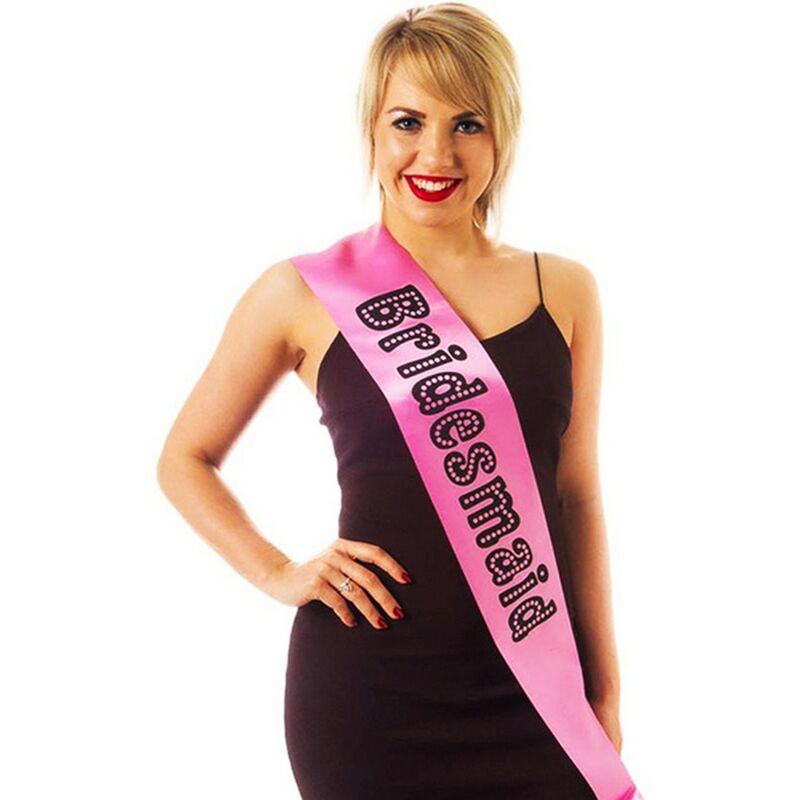 Image of Miss Behave Bridesmaid Hen Night Sash (One Size) (Pink) - Alandra