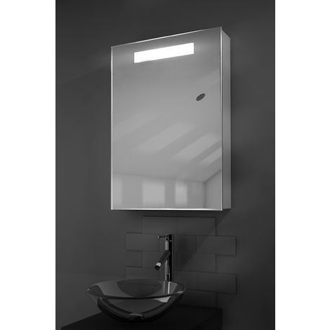 Alannah LED Illuminated Bathroom Mirror Cabinet With Sensor & Shaver k260aud