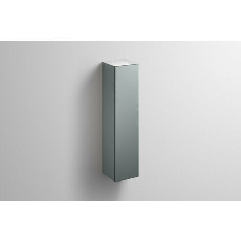 Alape tall cabinet HS.FO1250.L, W: 300mm H: 1246mm D: 303mm, 6323990010, Colour (front/body): Silk matt lacquer Fossil grey - 6323990010