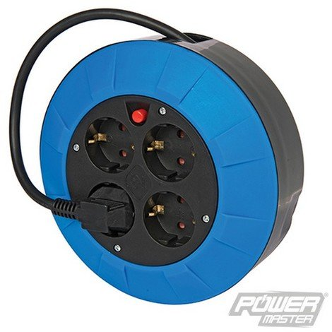 Alargador eléctrico Schuko tipo F (Europa). 230 V (4 tomas. 5 m)