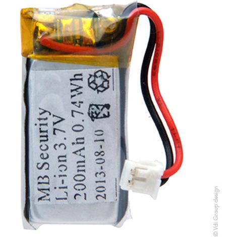 Alarm battery MTU01X with PCM 3.7V 200mAh
