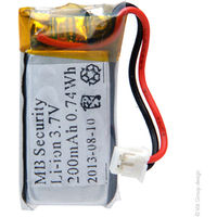 Alarm battery MTU01X with PCM 3.7V 200mAh