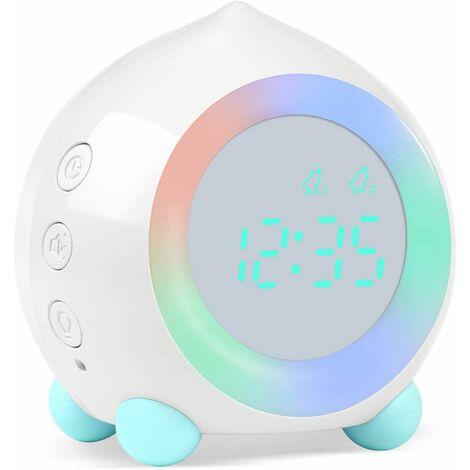 Alarm Clock Child Luminous LED Digital Lamp Alarm Clock Nightlight Girl Boys Day Night Child Volume Adjustable Snooze Alarm Clock in USB Charging