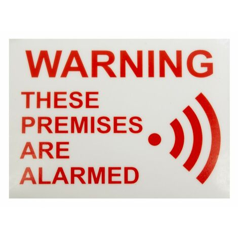 Alarm Warning Window Sticker [005-2020]