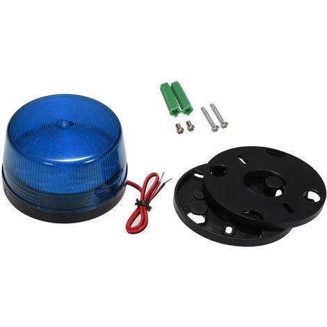 Alarma con cable Luz estroboscopica Led, 12V 120Ma, Azul
