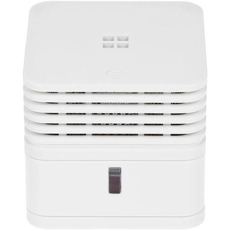 Alarma de humo fotoelectrico, advertencia de sonido fuerte de 85 dB y parpadeo de luz LED