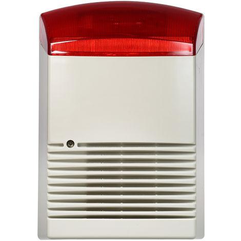 Alarma de luz de sonido de sirena estroboscopica, linterna roja, bocina 120dB