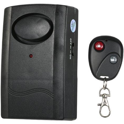 Alarma de vibracion con control remoto inalambrico, detector antirrobo