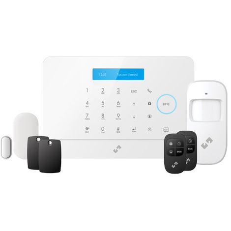 Alarma Kit sin cuotas para casa u oficina Inalámbrica Gprs/wifi compatible con Alexa y Google,Tuya Smart Nvian Nvs-a6wg