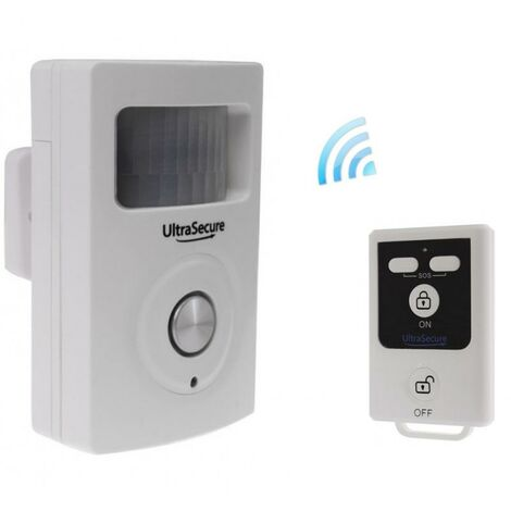 Alarme 2-en-1 sans-fil autonome avec détecteur de mouvement et sirène intégrée + télécommande (gamme BT)