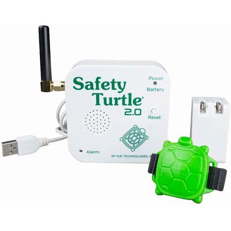 Alarme de piscine enfant - Kit bracelet + base réceptrice - Safety Turtle 2.0 - Blanc