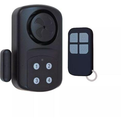 Alarme de porte mal fermée autonome sur piles étanche IP67 avec sirène intégrée - clavier et télécommande