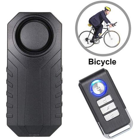 Alarme de vélo, antivol pour véhicules moto avec télécommande, 113 dB Super Loud (pack de 1)