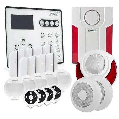 Alarme GSM Atlantic'S ATEOS - Kit 10 - Blanc