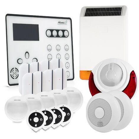 Alarme GSM Atlantic'S ATEOS - Kit 10 (MD-326R) - Blanc