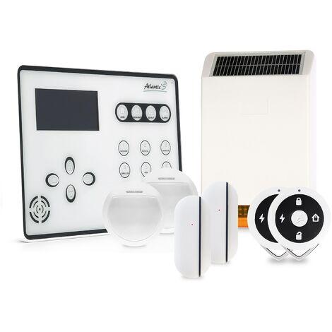 Alarme GSM Atlantic'S ATEOS - Kit 3 avec sirène solaire - Blanc