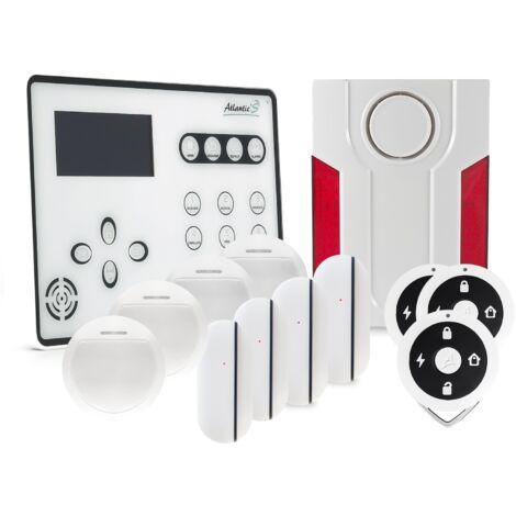 Alarme GSM Atlantic'S ATEOS - Kit 4 (MD-334R) - Blanc