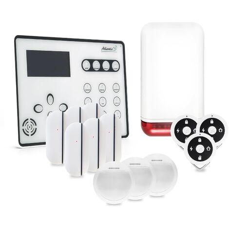 Alarme GSM Atlantic'S ATEOS - Kit 5 (MD-326R) - Blanc
