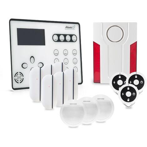 Alarme GSM Atlantic'S ATEOS - Kit 5 (MD-334R) - Blanc