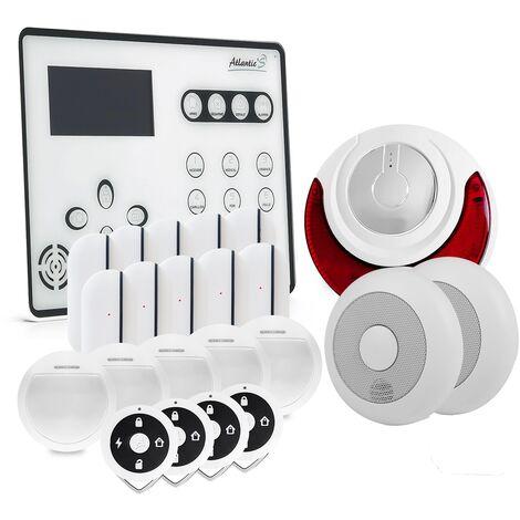 Alarme GSM Atlantic'S ATEOS - Kit 8 - Blanc