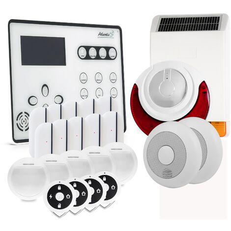 Alarme GSM Atlantic'S ATEOS - Kit 8 (MD 326R) - Blanc