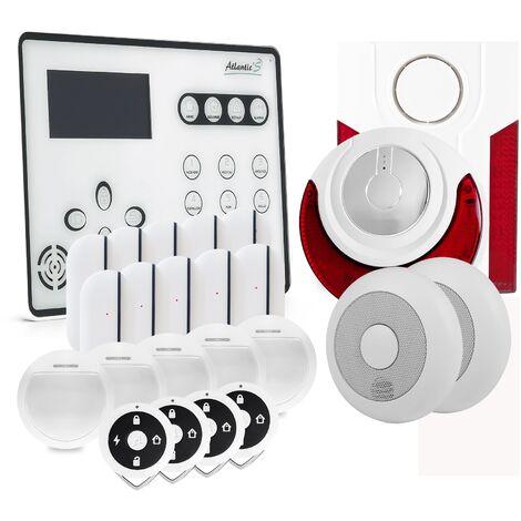 Alarme GSM Atlantic'S ATEOS - Kit 8 (MD 334R) - Blanc