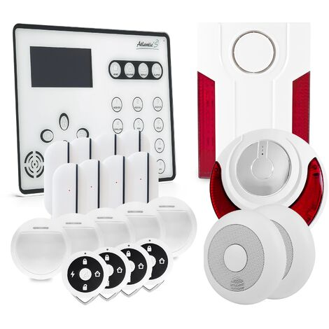 Alarme GSM Atlantic'S ATEOS - Kit 9 - Blanc