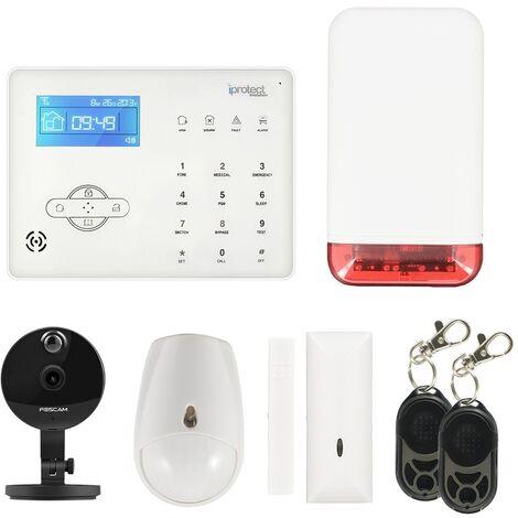 Alarme GSM et sirène autonome extérieure avec caméra 03 - Iprotect Evolution - Blanc