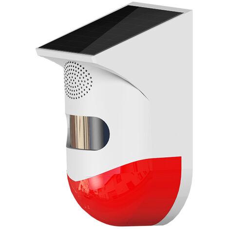 """main image of """"Alarme Infrarouge Exterieure Solaire Tuya Wifi, Alarme 120 Db, Capteur De Mouvement Pir Etanche, Version Sans Fil"""""""
