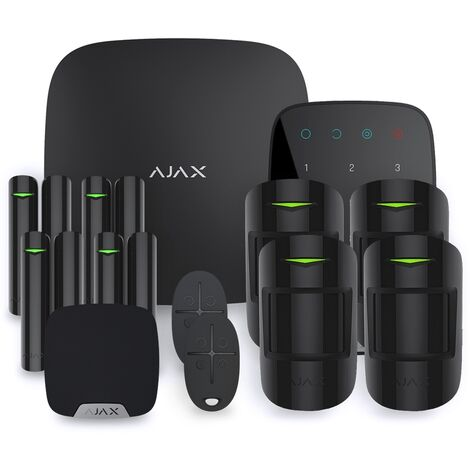 Alarme maison Ajax StarterKit noir - Kit 4