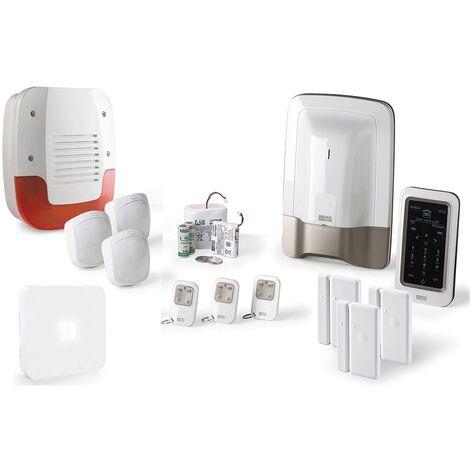 Alarme maison Delta Dore Pack alarme Tyxal + Kit n°2 - Blanc