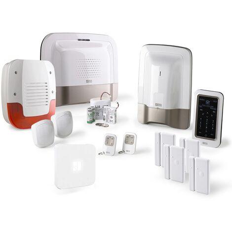 Alarme maison GSM Delta Dore Pack alarme Tyxal + Kit n°3 - Blanc