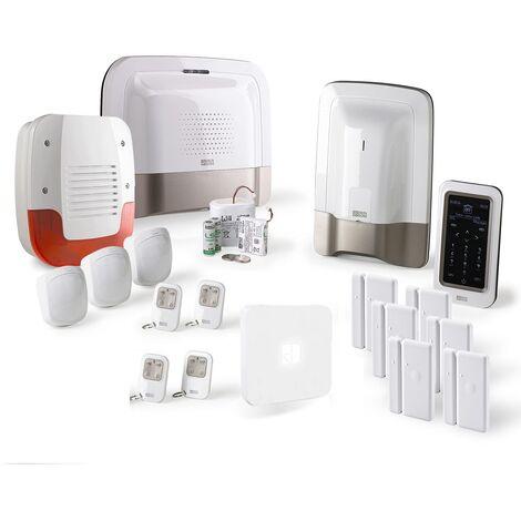 Alarme maison GSM Delta Dore Pack alarme Tyxal + Kit n°4 - Blanc