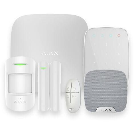 Alarme maison GSM sans fil blanc - Ajax AJ-HUBKIT-W-KS - Blanc
